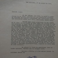 Letter from David Escobar Galindo to López Vallecillos, 27 August 1973